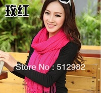 Korean female models Pashmina cashmere large shawl scarves, Korean winter long scarf