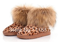 2013 Women Australia Sheep Skin Sweet short plush snow boots rubber slip-resistant Real Leather Warm Shoes Size 36-40