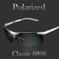 Aluminum magnesium alloy polarized sunglasses 6806 male driver fishing mirror fashion glasses men sunglasses men brand designer