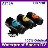 Helmet Action Camera Original AT18A Full HD 1280*720 30Fps Waterproof Sport Bike Helmet Camera 3 colors Free shipping