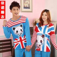 Autumn lovers sleepwear at home long-sleeve cotton cartoon lounge set free shipping