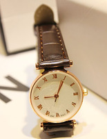 Embossed strap table coffee lovers table fashion watch thin watch student table
