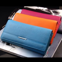 Free shipping fashion women wallet long style soft PU leather wallets ladies coin purse/handbag/card holder NQB44
