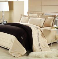 free shipping new Hotel Supplies Home Bedding white gray bedding European style Duvet cover 100% cotton set 4 pieces bedding