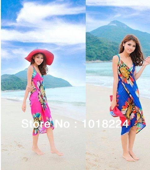 Free shipping 2015 new fashion Summer Sexy Swimwear Open-Back Wrap Front Cover Up one piece brand Beach Dress Women saia Bikini(China (Mainland))