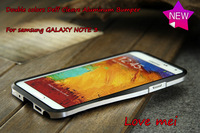 NEW Love mei double colors Deff Cleave Metal Bumper Aluminum case For Samsung Galaxy Note 3 Retail Package Free shipping,2154