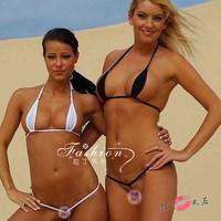 European New Arrival Super Sexy Women's Gauze Bikini Set Black/White/Blue/Red/Pink For Women Free Shipping