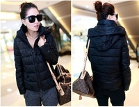2013 women's winter coat jacket Slim Short padded winter jacket /