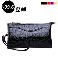free shipping Day clutch women's handbag clutch bag handle bag bread personality crocodile pattern small bag mobile phone bag