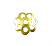 2000Pcs Gold Plated End Beads Caps 6mm Dia. Findings