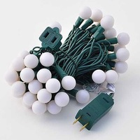 LED Color-Changing Linkable 16 Feet Christmas Light String with 50 RGB Globes, 2070
