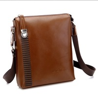 Free Shipping [3 Colors] Genuine Leather Beautiful Best Selling Bags men 2013 High Quality Bags Men messenger bag AM042