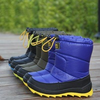 Boy male 2013 child snow boots winter boots baby winter boots child boots waterproof 2406