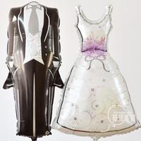 Foil wedding groom bride dress balloon