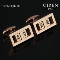 Newest classic Germany titanium steel Cuff Links unique MEN cufflinks surprise gift to friends QR-300