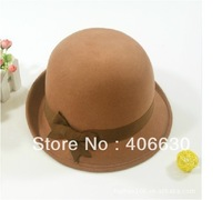 autumn winter women wool felt bucket hat, lady cloche hat, 10pcs/lot, free shipping by EMS