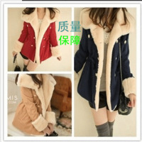 Semir SEMIR 2013 style autumn and winter women slim double breasted wool preppy style wool coat