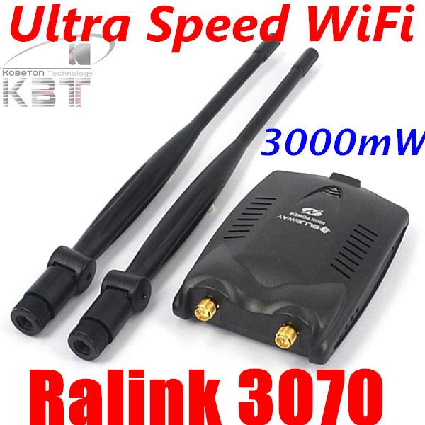Password Cracking USB 2.0 Wireless BlueWay BT-N9100 Beini free internet High Power 3000mW Dual Antenna Wifi Decoder Ralink 3070(China (Mainland))