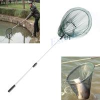D19+Fashion Fishing Folding Landing Net & Extending Pole Handle Fishing Net
