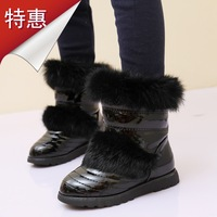 Children boots female child boots cotton boots fur boots child boots 2013 children shoes cotton-padded shoes