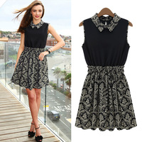 Women's dress printed short sleeve summer dress