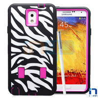 NEW LISTED ZEBRA PATTERN HIGH IMPACT RUGGED CASE FOR SAM GALAXY NOTE 3/N9000 FREE SHIPPING