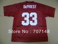 Cheap-Mix Order 2013 New Style Alabama Crimson Tide Trey DePriest #33 College Football Jerseys Red White