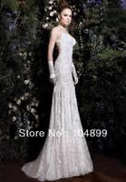 Hot Sexy Backless Elegent Lace Wedding Dresses Beaded White Ivory Summer Mermaid Dresses Custom made