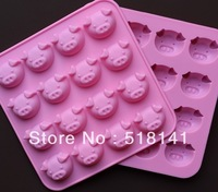 Min order $15 (mix order) 16 pcs pig head silicone chocolate ice mold manually DIY soap mould cake mould food-grade FDA