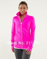 Free Shipping! Wholesale Best Quality Yoga Clothing Brand Lululemon Yoga Wear Women Hoodies and Jackets Size 2 4 6 8 10 12
