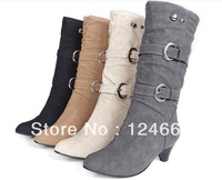 New 2013 winter leather boots for women spring and autumn thick heel single martin boots on sale