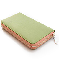 2013 Women's wallet long zipper design cowhide clutch
