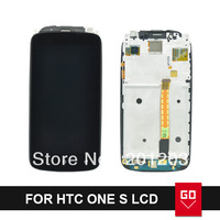 For HTC One S Z520e LCD Display With Touch Screen Digitizer Assembly With Frame 5pcs/lot via DHL/EMS