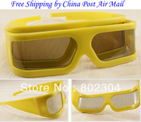 Passive Real D type Circular  polarized 3d glasses+free shipping by China post air mail