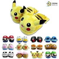 Wholesales New Hot  Super Mario Brothers Tabo rilakkuma Pikachu one piece Joba warm slippers Slippers Flats Freeshipping