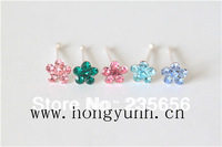body piercing jewelry 1/pc 925 silver nose rings & studs free shipping B0224