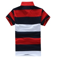 Tommmm , Striped t-shirt have logo,new 2013 brand t shirt ,hot sale short sleeve slim fit  t shirt, men , camisas  shirt