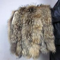 Fur raccoon hats raccoon fur down coat fur collar the son wool muffler scarf customize square collar