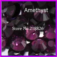 Big Promotion Free Shipping!288pcs/lot DMC  Flatback  crystals Hot Fix Stone SS30(6.4-6.6MM) Amethyst