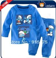 2013 NEW Children's cartoon pajamas BOY's Pyjamas,100% cotton baby kids pajamas Children Sleepwear Spring /autumn 6sets/lo