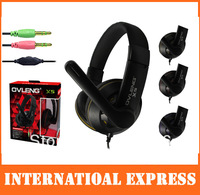 Free shipping OVLENG X5 Over-Ear Headphones for PC with Mic Scalable headset