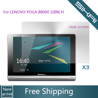 3 x Clear Screen Protector Guard For Android 4.2 Lenovo YOGA Tablet B8000 10'' inch