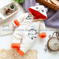 Fashion winter style cotton bodysuit baby clothes and climb baby boy jumpsuit crawling service