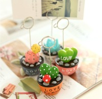 Fleshier plant message clip resin craft gift small fresh desktop message folders