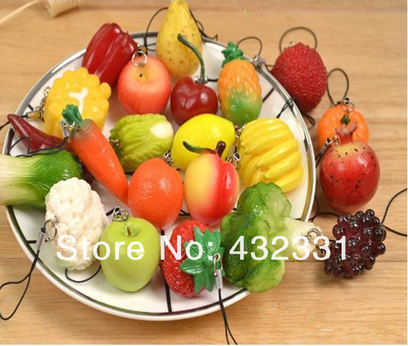Boyfriend Girlfriend Keychain,22 Pieces/Lot,Fashion/Popular Key Chain,Red Color Pepper,Carrots,Corn,Red Apple,Fine Workmanship(China (Mainland))