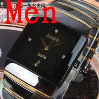 New arrival ceramic watches square ceramic gold lovers table watch Wristwatches