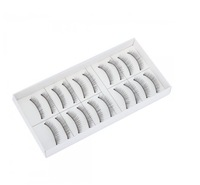 Wholesale 10 Pair Reusable Charming Fake False Eyelashes Glue Adhesives Eye Lashes Makeup Black