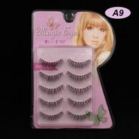 15 Pairs Black Natural Slim Models Cross Section False Eyelashes Eyelash Eye Lashes Makeup A-9 Handmade