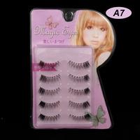 15 Pairs Natural Slim Models Cross Section Black False Eyelashes Eyelash Eye Lashes Makeup A-7 Handmade