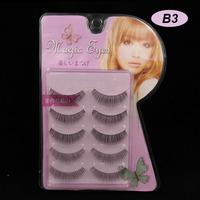 15 Pairs Grinding Sword Of Natural Slim Models Black False Eyelashes Eyelash Eye Lashes Makeup B-3 Handmade